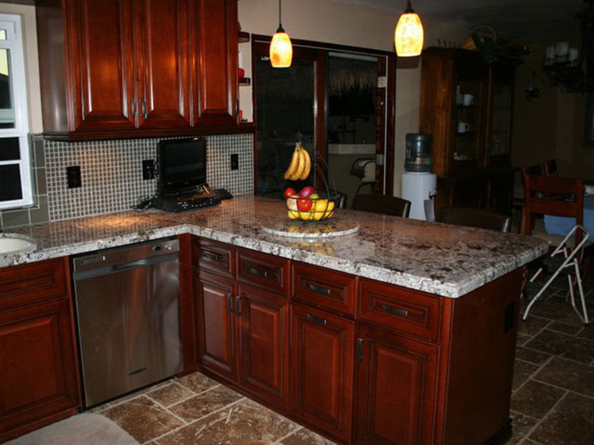 Kitchen Island And Upper Cabinets