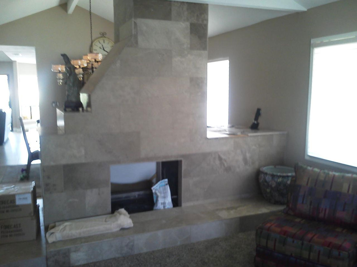 » Stone Fireplace in Center of Room | Orange County